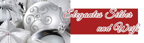 Elegantes Silber und Weiß