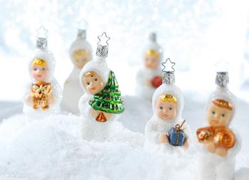 Schneekinder Weihnachtsschmuck