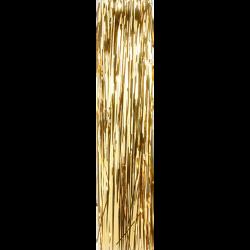 Gold Lametta glänzend glatt 50cm