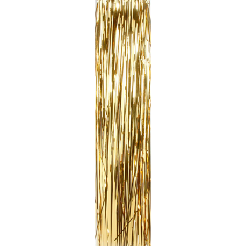 Goldenes Lametta glänzend glatt 50cm