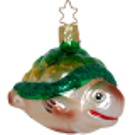 Schildkrötenbaby Inge-Glas® Weihnachtsschmuck