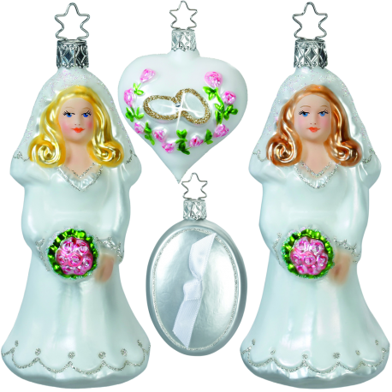 Hochzeit 4-teilig Ladys Inge-Glas Weihnachtsschmuck