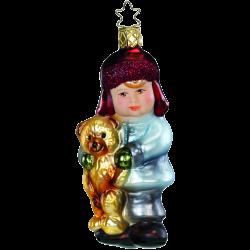 Junge mein Teddy 11,5cm Inge-Glas Weihnachtsschmuck