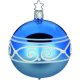 Weihnachtskugeln Ornamental Border Ø 8cm brillantblau Inge-Glas® Magical Blue