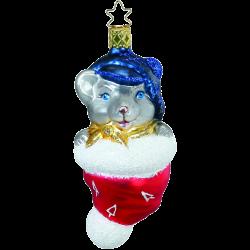 Mäuschen Inge-Glas® Weihnachtsschmuck 11,5cm