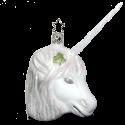 Einhorn Sternenstaub weiß 8,5cm Inge-Glas Manufaktur Unicorn Weihnachtsschmuck