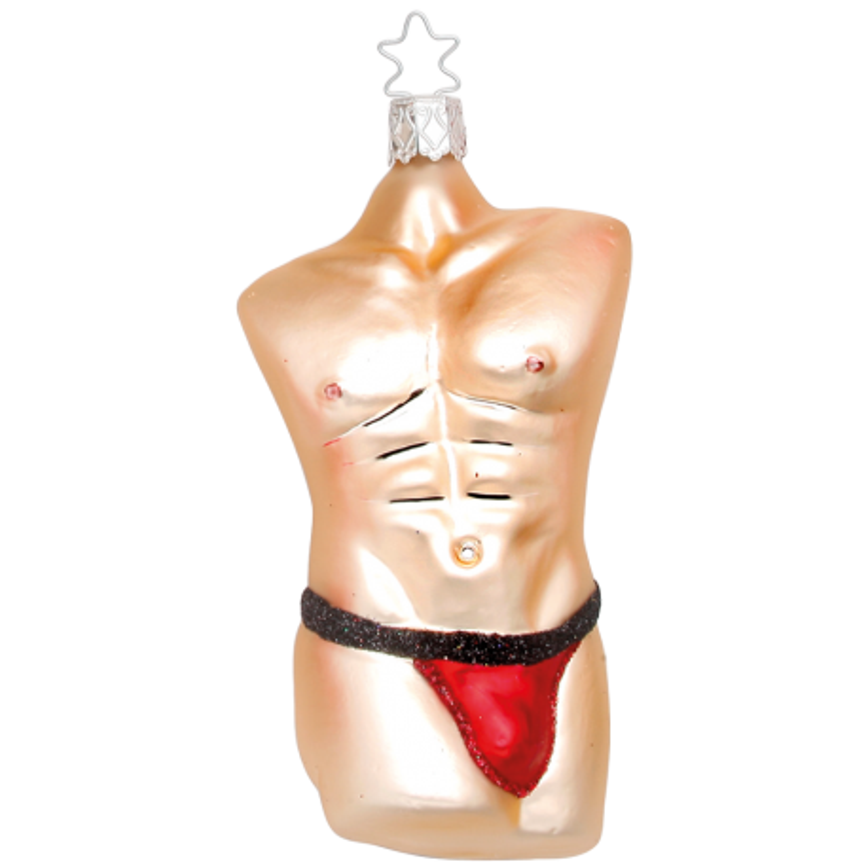 Cool Men Body, Christmas Men Inge-Glas® Weihnachtsschmuck 11,5cm