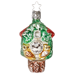 Kuckucksuhr 8,5cm Nostalgia Inge-Glas® Manufaktur Christbaumschmuck