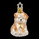 Hund Wuffi Knuffi 7cm Inge-Glas® Manufaktur Weihnachtsschmuck