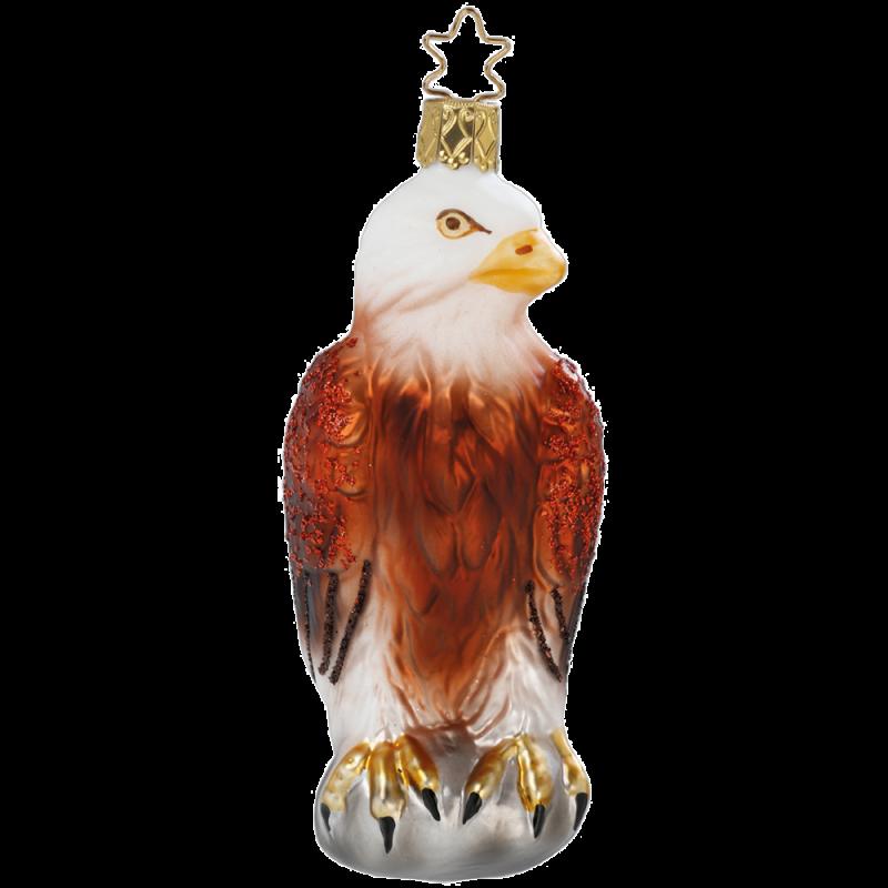 Weißkopfseeadler 12cm Inge-Glas® Weihnachtsschmuck