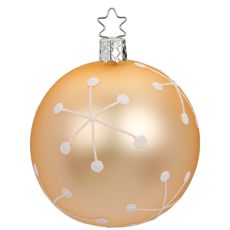 Christbaumkugeln Retro.Christbaumkugel Glow ø 8cm Apricot Matt Inge Glas Christbaumschmuck