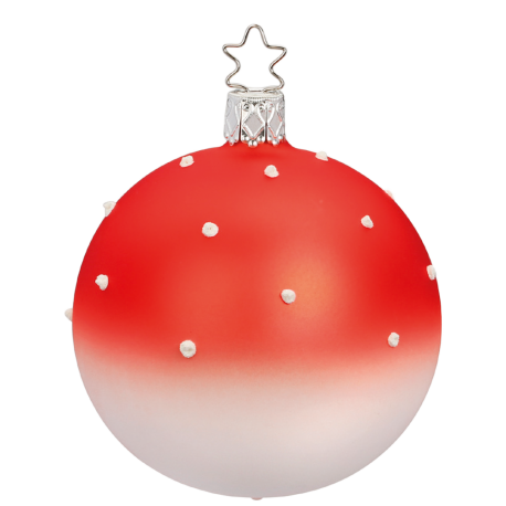 Christbaumkugel Lovely Dots Ø 8cm orange matt Inge-Glas® Christbaumschmuck