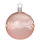 Christbaumkugel Tender Pearls rose transparent glänzend Ø 8cm Peaceful Whites Inge-Glas® Christbaumschmuck