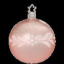 Christbaumkugel Tender Pearls rose transparent glänzend Ø 8cm Peaceful Whites Inge-Glas® Christbaumschmuck