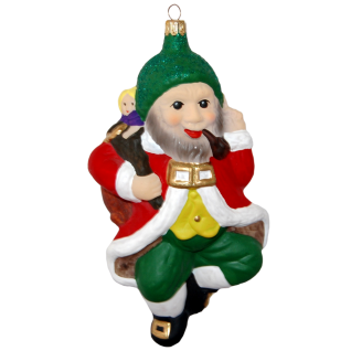 tanzender Santa matt 16cm Inge-Glas® Christbaumschmuck Old Christmas Collection