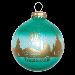 Christbaumkugel Dresden Souvenir Ø 8cm Inge-Glas® Weihnachtsschmuck