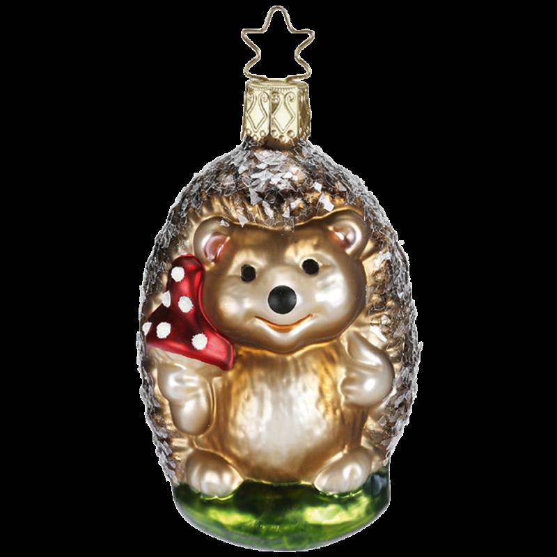 Papa Igel 9cm Zauberwald Weihnachtsschmuck Inge-Glas®