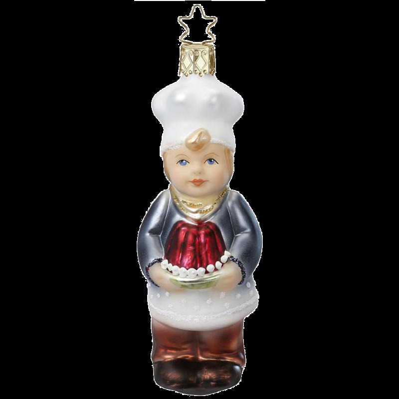 Backe, Backe Kuchen 12cm Weihnachtsschmuck von Inge-Glas®