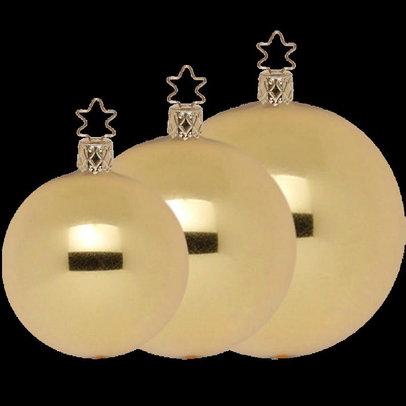 Goldene Weihnachtskugeln.Christbaumkugeln Gold Metallic ø 6 ø 15cm Inge Glas Manufaktur Weihnachtskugeln