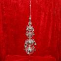 Christbaumspitze 1m ( 100cm ) silber mit 12 Glocken