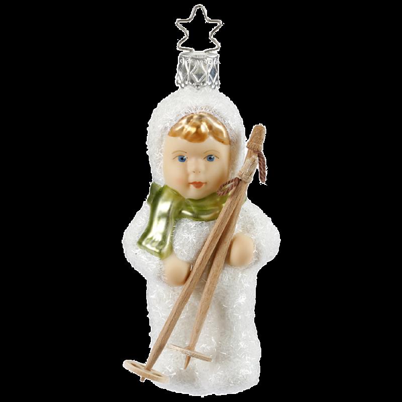 Talfahrt 10,5cm Schneekinder Inge-Glas® Christbaumschmuck