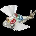 Geschenkelieferung Flugzeug 9,5cm Nostalgia Inge-Glas® Manufaktur Christbaumschmuck