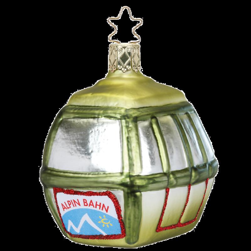 Gondel bayerische Weihnacht 7,5cm Inge-Glas® Weihnachtsschmuck