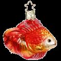 Goldfisch 7cm Inge-Glas® Weihnachtsschmuck