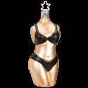 Christmas Woman, schwarz Inge-Glas® Weihnachtsschmuck 11,5cm
