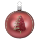 Christbaumkugel Tree Shape edle rose matt Ø 8cm Urban Cottage Inge-Glas® Christbaumschmuck