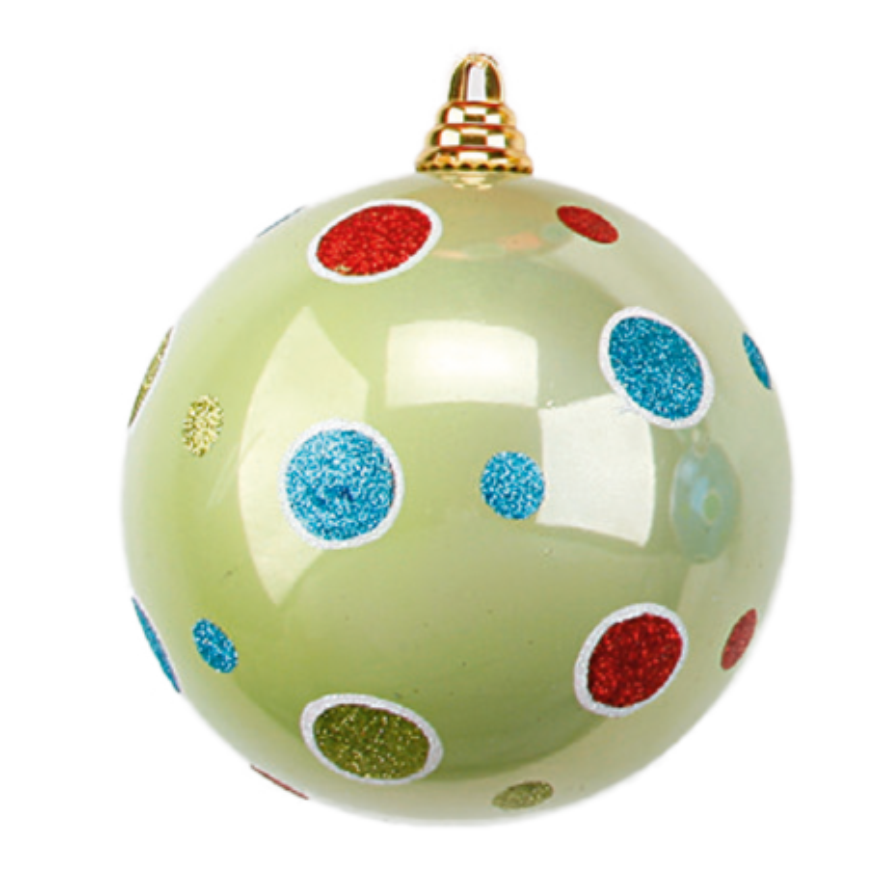 Weihnachtskugeln Mix & Match Kunststoff mit Punkte Ø 15-25cm