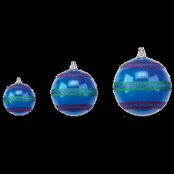 Weihnachtskugeln Mix & Match Kunststoff mit Streifen Ø 15-25cm