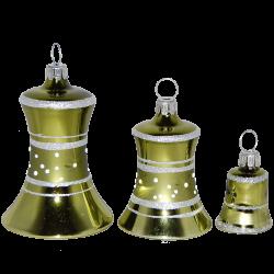 Glocke grün glänzend Thüringer Glas Weihnachtsschmuck