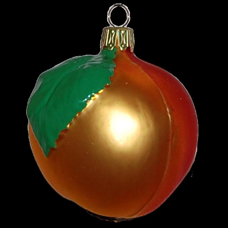 Apfel 8cm Thüringer Glas Weihnachtsschmuck