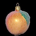Apfel bezuckert 8cm Thüringer Glas Weihnachtsschmuck