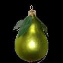 Birne grün 8cm Thüringer Glas Weihnachtsschmuck