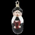 Kurrendeleiter schwarz 11,5cm Inge-Glas® Weihnachtsschmuck