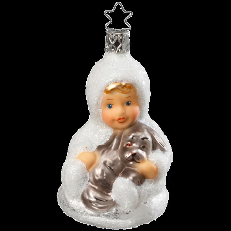 Knuddelzeit 9,5cm Schneekinder Inge-Glas® Christbaumschmuck