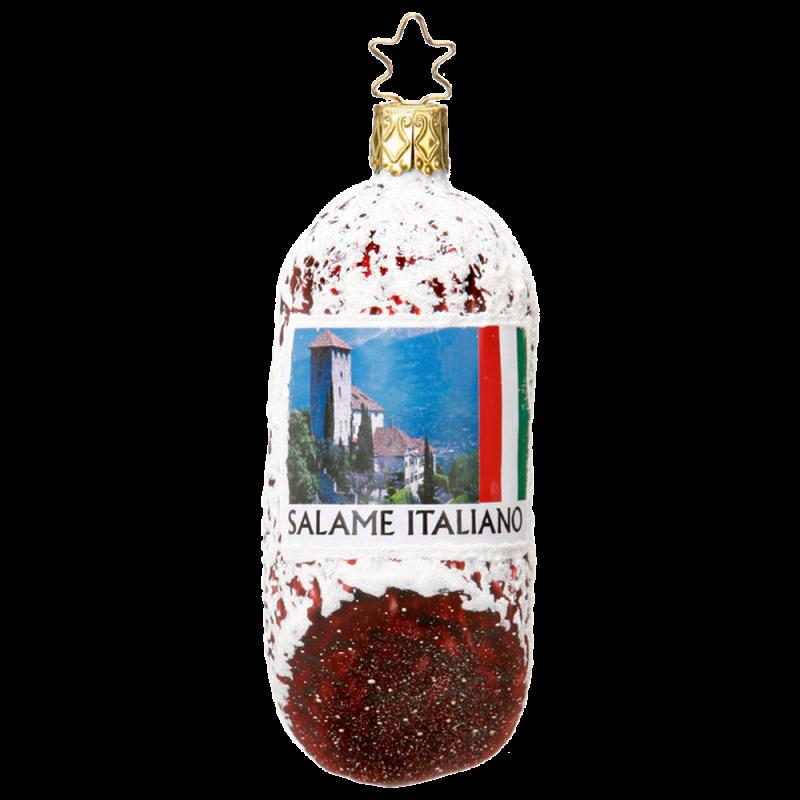 Salami 10cm Inge-Glas® Manufaktur Köstlichkeiten Weihnachtsschmuck