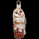 Schleiereule 9,5cm Vogel Inge-Glas® Weihnachtsschmuck