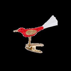 Vögelchen 5cm Vogel Inge-Glas® Weihnachtsschmuck