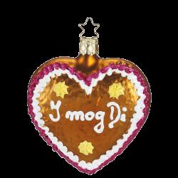 I Mog Di, Lebkuchenherz aus Glas Inge-Glas® Weihnachtsschmuck 8,5cm