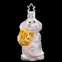Finger weg! Maus 9cm Inge-Glas® Manufaktur Weihnachtsschmuck