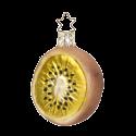 Kiwihälfte 6,5cm Inge-Glas® Weihnachtsschmuck