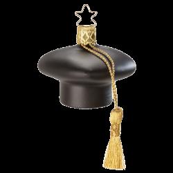 Schlauer Kopf, Doktorhut, 5cm Weihnachtsträume Weihnachtsschmuck von Inge-Glas®