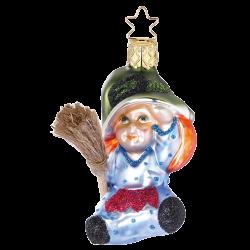 kleine Hexe 8cm Zauberwald Weihnachtsschmuck von Inge-Glas®
