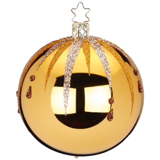 Christbaumkugel Fancy Ø 8cm inkagold glanz Inge-Glas® Christbaumschmuck