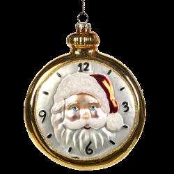 Santa Taschenuhr 11,5cm Katherine's Collection Weihnachtsschmuck