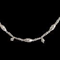 silberne Glöckchen Baumkette ca.220cm, 83 Teile - Schatzhauser Glasschmuck aus Lauschaer Glas