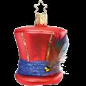 Schickimicki Zylinder rot 7cm crazy Party Ornaments Inge-Glas®Schmuck